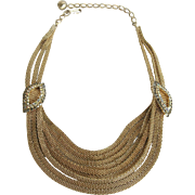 Hobé Multi-Chain Mesh Necklace