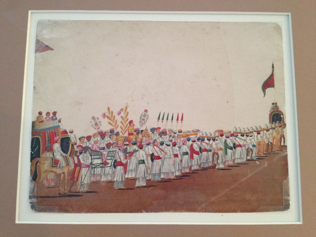 Company School Anglo Indian Mica Painting Procession 2