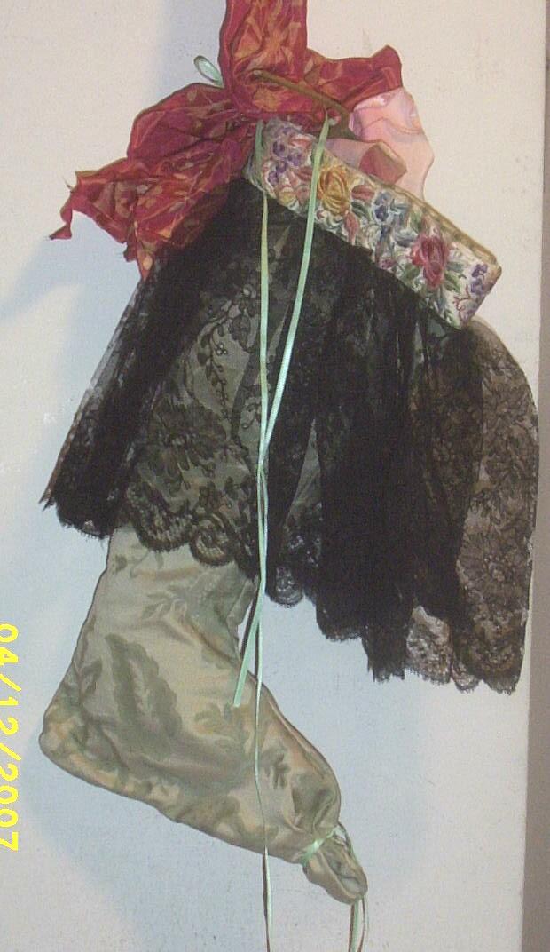 Vintage  Textiles..Christmas Stocking..Original