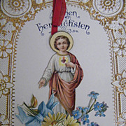 Antique..1915..Christmas Card / Letter Written in German From NJ..Printed In Germany..Excellent Condition!