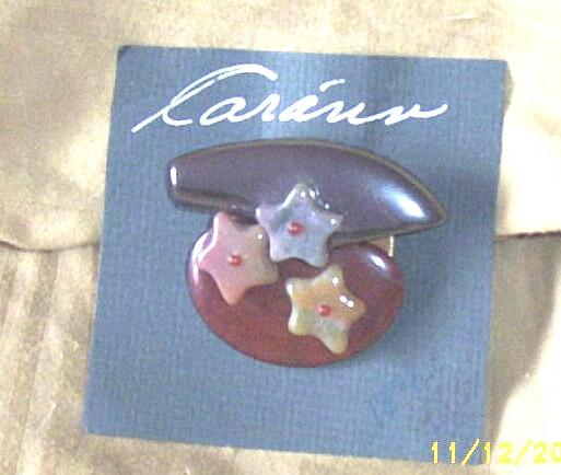 Vintage Pieces..Collage Pin / Brooch..Art Deco Style..Flat Flore Stone ..jasper..Hematite..Agate..Different!!