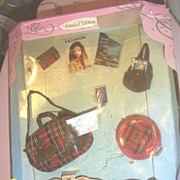 BARBI MILLICENT ROBERTS...Jet Set...Red Plaid Luggage ...1997..Limited Edition.. New In Box