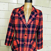 Royal Stuart Plaid Wool Blazer / Jacket..Pendelton..Excellent Condition