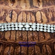 Vintage...Clear Rhinestone Bracelet...Dainty