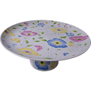Pastel Floral Floral Cake Stand Made In Japan..Sticker..Excellent Condition!