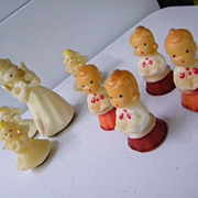 Candles Set..Choir Boys / Girls & Angels By Gurley..8 Pieces ..
