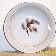 "Kyoto of Japan Round [10""] Pine Cone Vegetable Dish"