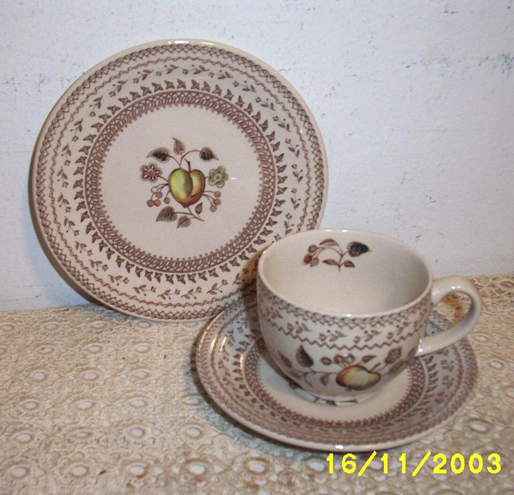Johnson Brothers England Fruit Sampler Cup And Saucer Staffordshire
