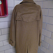 100% Cashmere Trench Style Coat Made In Italy..US Size 14...Italy Size 50