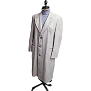 Ratazzi...Men's Winter Over-Coat..Off White Wool..Size 42