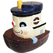 TUGGLE The Tugboat Ceramic Cookie Jar