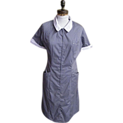 Maid's Or Matron Uniform..Grey Polyester / Cotton..White Collar & Cuffs..White Swan..Size 16..USA