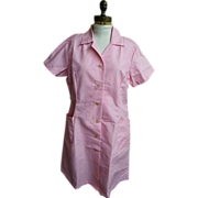 Pink Hair Dresser Uniform / Costume..ANGELICA..Size 46..Poly/Cotton..USA..New Condition