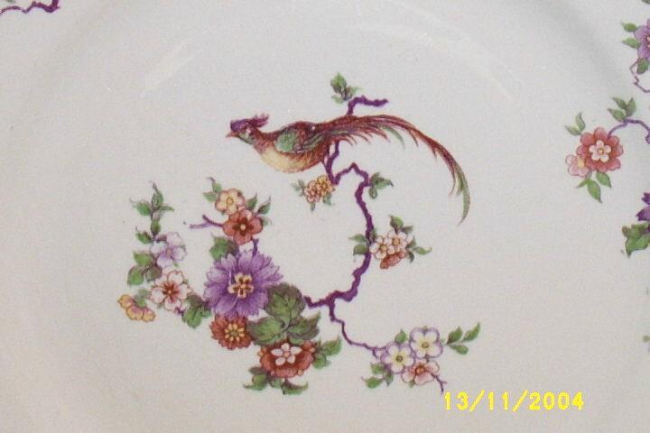 """Rare Homer Laughlin Six-Sided Dinner 9""""  Plate Bird Design Old  9 Pieces Available"""