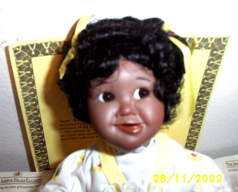 Ashton Drake Galleries: Little Handfuls Josie African- American Porcelain Baby Doll