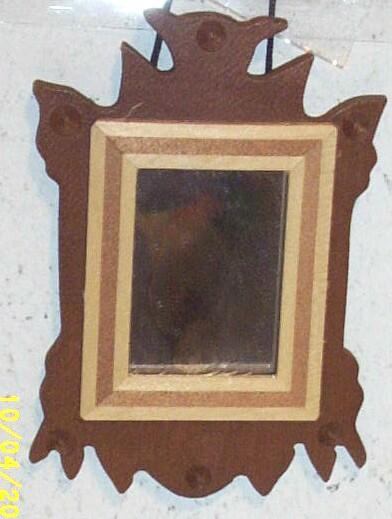 Vintage..NIB..1970's..Handmade Early American Wood Mirror By Shackman #3797..Japan