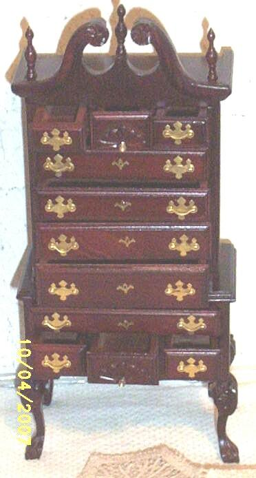 Vintage...MIB...Highboy Of Cherry / Mahogany