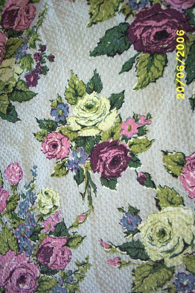Vintage Cabbage Rose Drape Set With Valances & Pillow Shams...6 Piece Set
