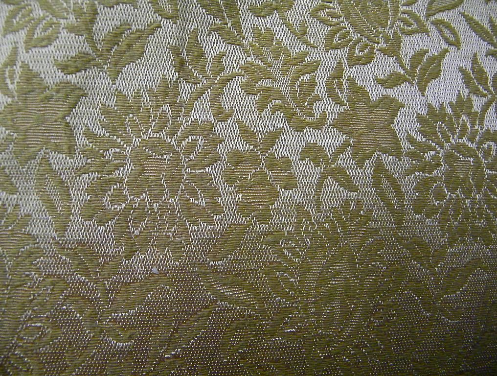 Drapes Pair..Insulated..Bright Gold Brocade / Damask Rayon