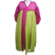 Korean Cerimonial Dress / Gown..Designer..Silk Organza..Magenta Bolero / Line Green Skirt...Excellent Condition