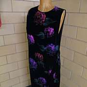 Dramatic..Designer Donna Haag Hand Painted Velvet Jumper      Style Gown  Straight Cut..Excellent Condition!!