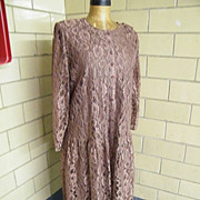 Light Brown Lace Coat Dress..Tags..Lane Bryant..Size 20..Excellent Condition!