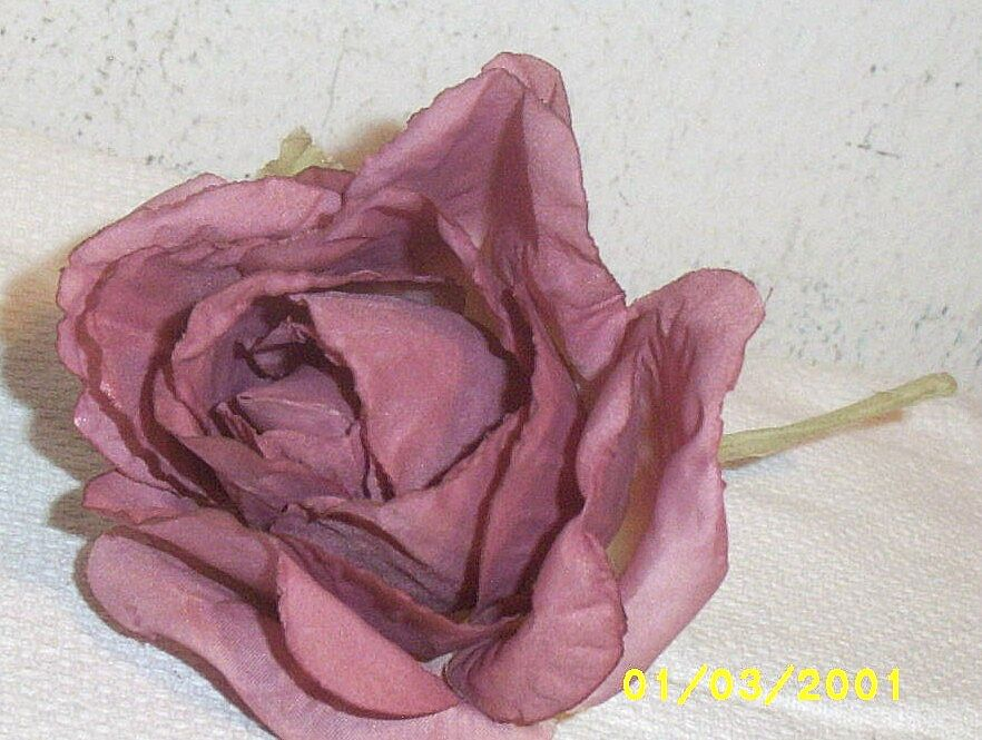 Vintage...Dusty Rose...Opening Rose Millinery Flower