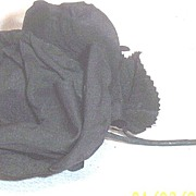 Vintage...Black Just Opening Rose...Millinery Flower
