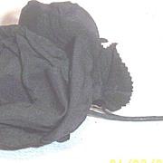Vintage...Black Just Opening Rose...Millinery Flower