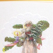 Artisan..Ephemera..Collage Father Time Christmas Card..Pull-Up