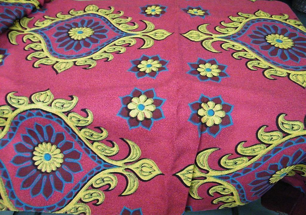 Decorator Burlap Fabric Eastern Inspired Medallions...New Condition