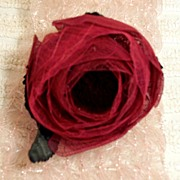 Vintage Millinery  Bright  Burgundy  Flower