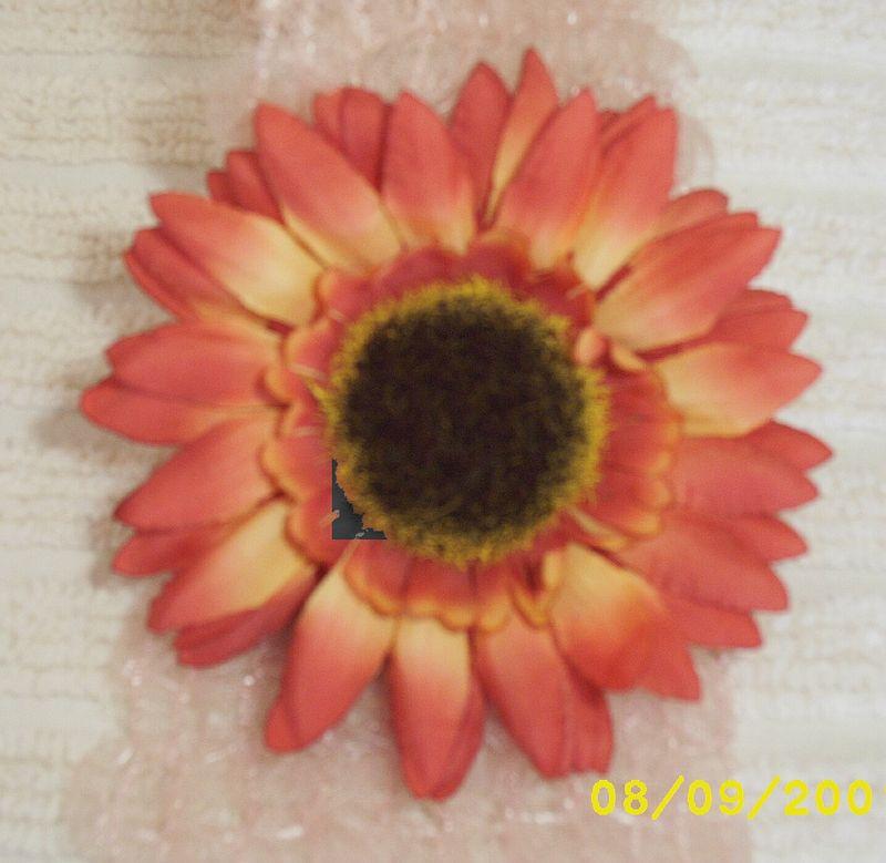 Vintage Millinery Silk Sun Flower