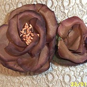 Beige Wild Rose Spray Made  In A Silk Like Fabric