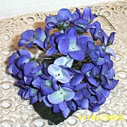 Violet Hydrangea Millinery Flower