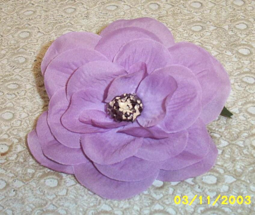 Palel Lavender Flower With Silk Like Petals And Straw Stamen Center