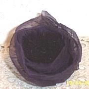 Starched Organdy Antique Violet Colored Vintage Millinery Rose