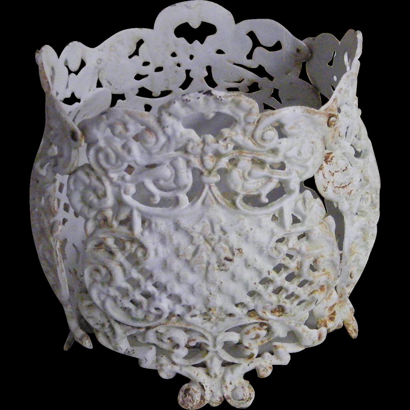 Vintage Garden Decorative Iron Flower Pots 3 Pots Available