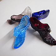 Glass Slippers / Shoes..5 Different Style / Color Assortment..Excellent Condition