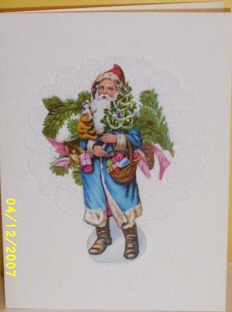 Item ID: GREETING-XMAS-BLU-SANTA-2316 In Shop Backroom
