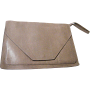 Gaetano New York Envelope Handbag..Beige Embossed Reptile Leather