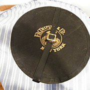 Vintage FR TRIPLER & CO Oval Men's Hat Box With Hat Form & Tissue & Belt / Buckle.