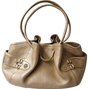 Cole Haan Pebble Leather Handbag / Tote..Beige..Excellent Condition!
