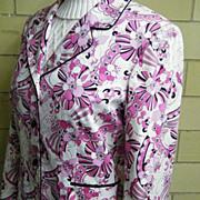 Pink Pucci Style Print Cotton Sateen Blazer..Tahari..Size 18