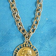 Pendant Necklace Of Shakespeare Made For Anniversary Celebration..Mid Century
