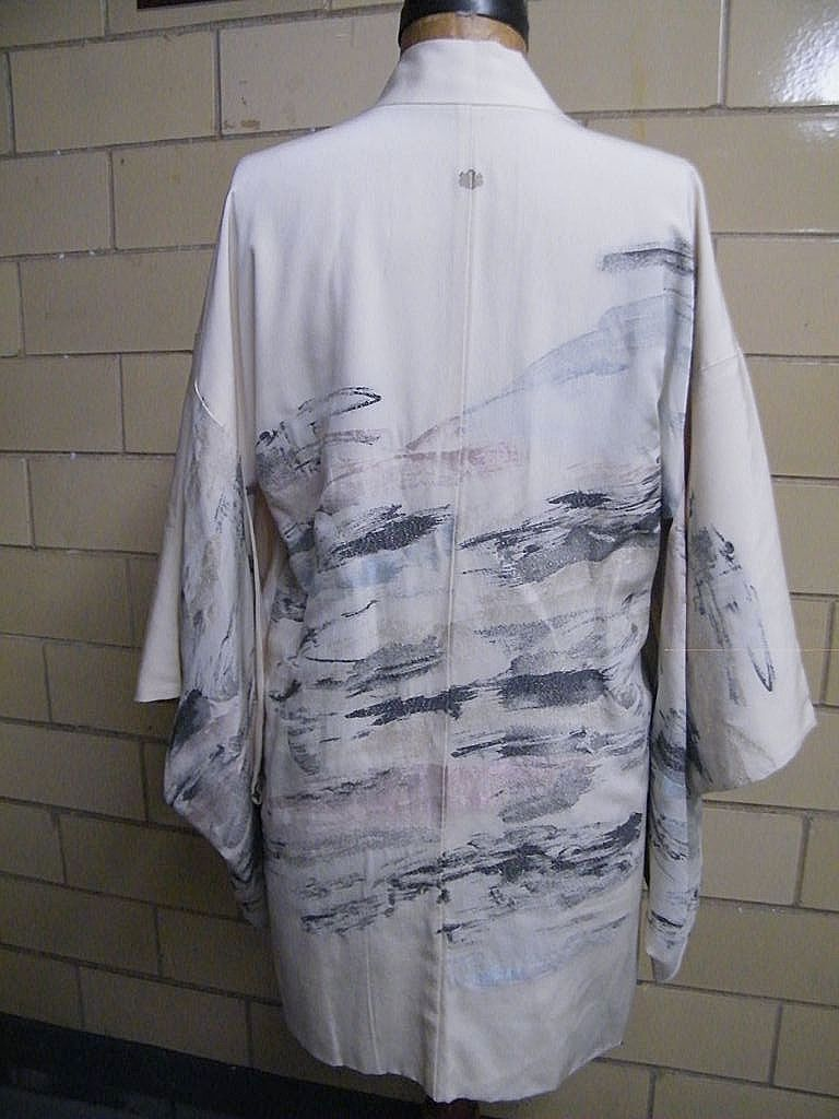 Textured Woven Abstract Design Kimono Jacket  Hand Made In Japan..Size S/M