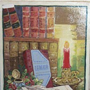 Vintage..LEDGER Oil Painting..Signed EP..Wonderful For Office Or Library