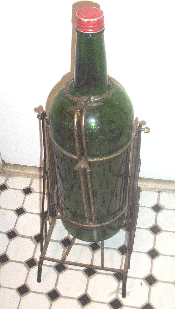 Vintage J Amp B Giant Glass Scotch Whiskey Bottle Bar
