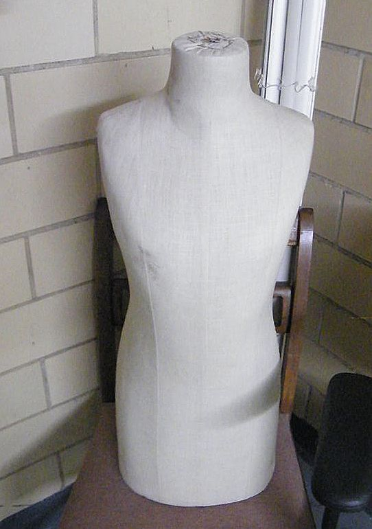 Vintage EXTRA Small Linen Dress Form / Mannequin / Store Display