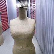 Vintage..Large Mannequin Torso Of A Woman..Display Form..Fitting Form